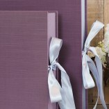 Spring Lilac Faux Silk with Grey Ribbon