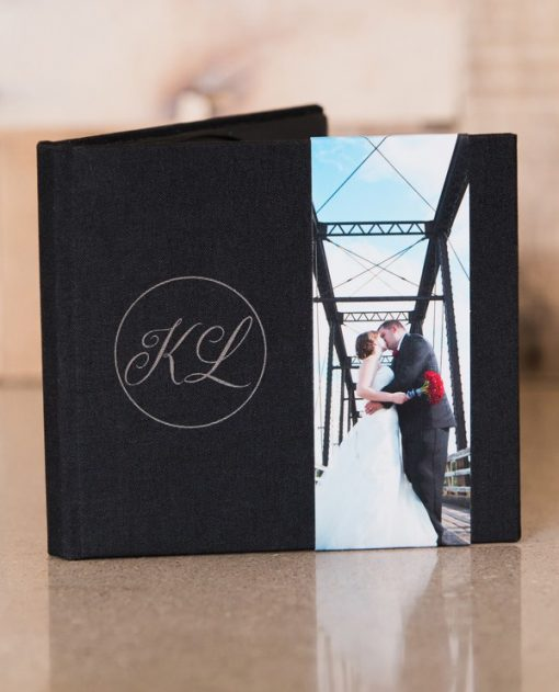 Black Linen with Optional Photo Strip and laser Engrave