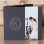 Grey Linen with Optional Photo Strip and laser Engrave