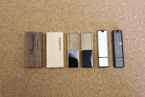 (L to R) - Walnut, Birch, Crystal w/ Silver Cap,  Crystal w/ Black Cap,  Metallic Silver, Metallic Black