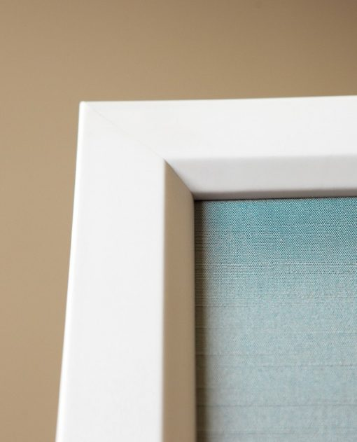 Sea Foam Green Faux Silk Background with White Frame